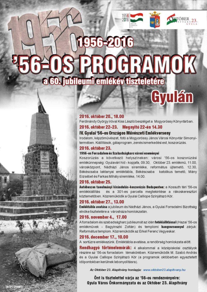 60. jubileumi emlékév programjai - plakát